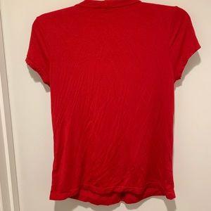 Anne Klein Tops - Anne Klein Red Short Sleeve Top